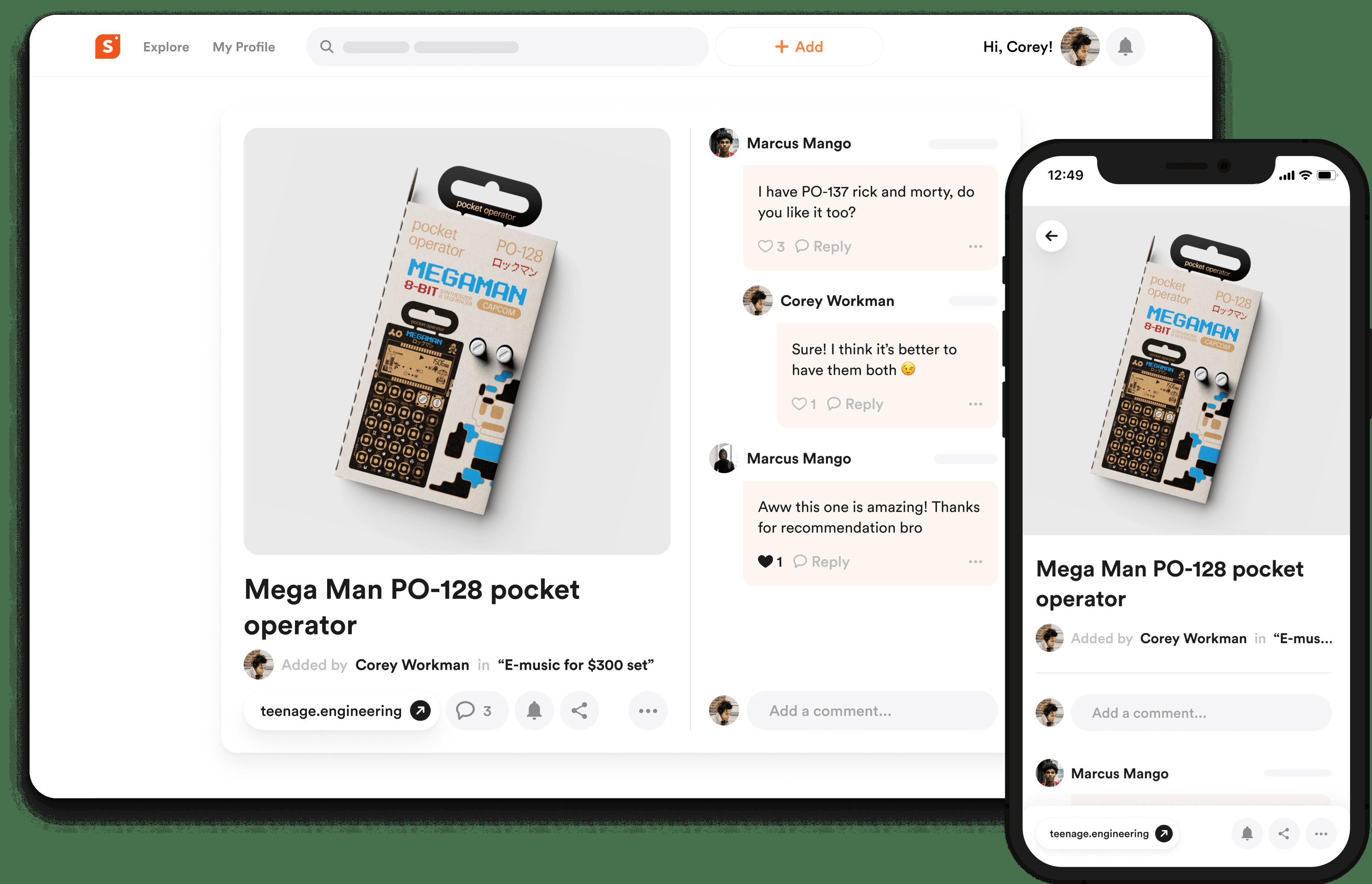 shopper.com product card image on desktop and on mobile