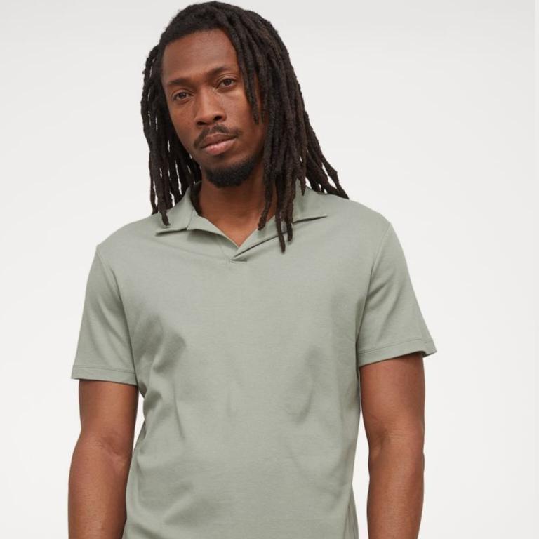 Jersey polo shirt - Sage green - Men | H&M IN