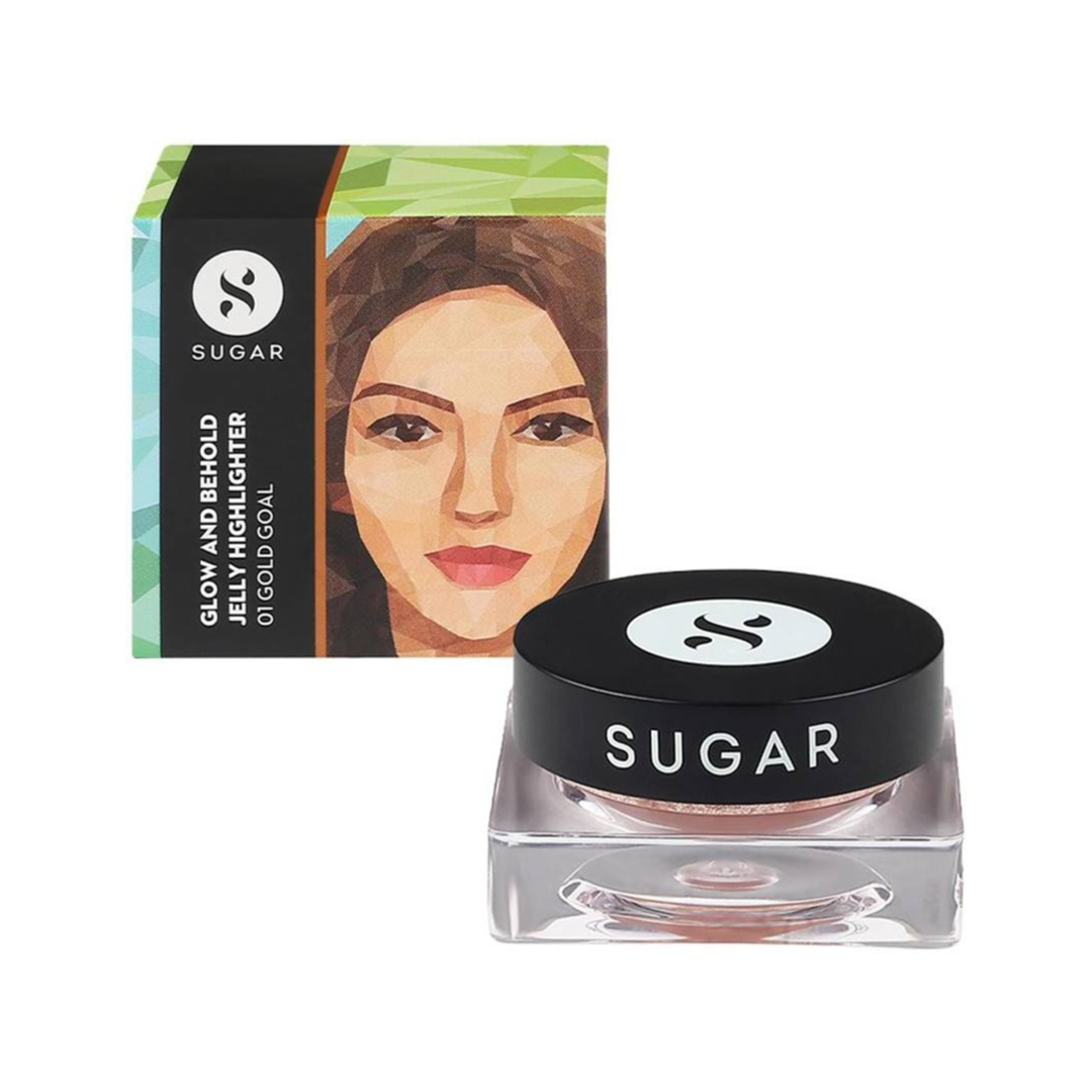 SUGAR Cosmetics Glow And Behold Jelly Highlighter - 01 Gold Goal (Warm Champagne Gold) Highlighter - Price in India, Buy SUGAR Cosmetics Glow And Behold Jelly Highlighter - 01 Gold Goal (Warm Champagne Gold) Highlighter Online In India, Reviews, Ratings & Features | Flipkart.com