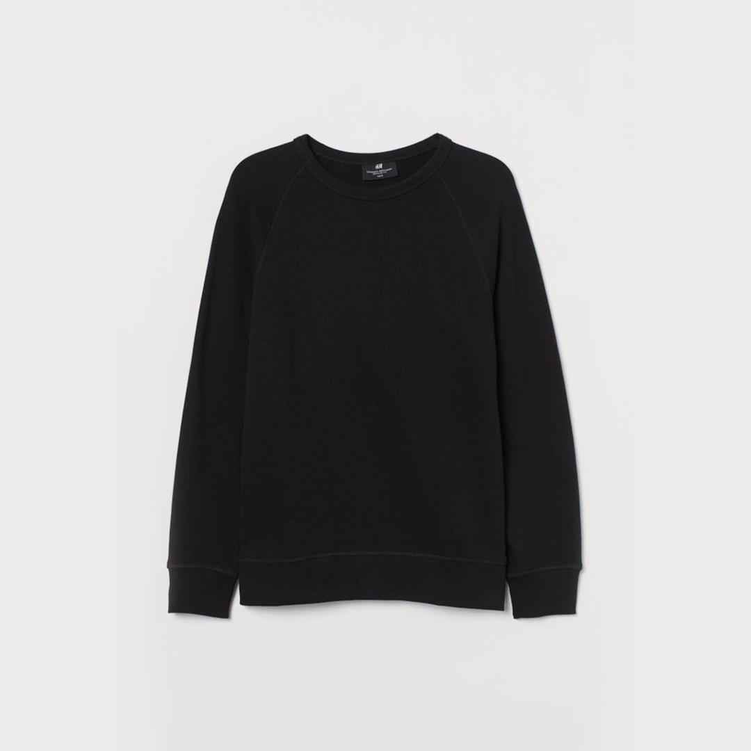 Sweatshirt Regular Fit - Black - Men | H&M IN