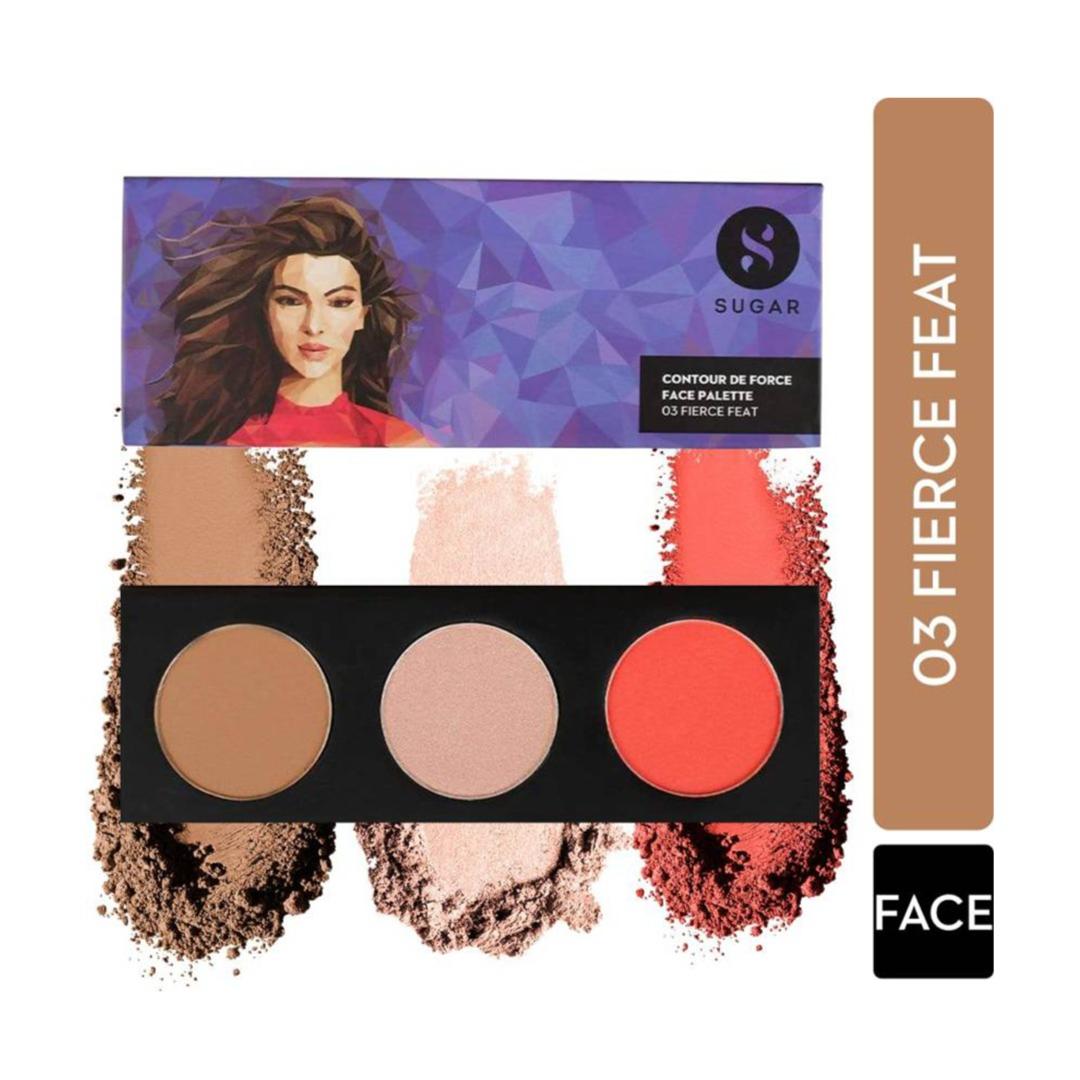 SUGAR Cosmetics Contour De Force Face Palette - 03 Fierce Feat  (03 Fierce Feat)