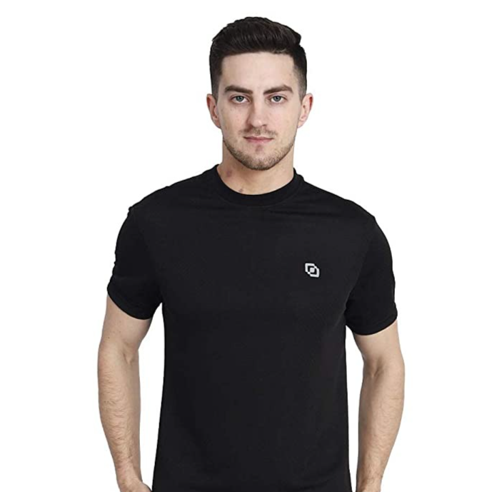 Buy Stylish and Trendy Daily and Casual Wear Dry Fit Brick Knit Plain Round Neck Mens and Boys T-Shirt at Amazon.in