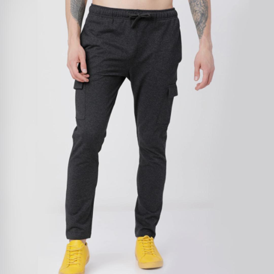 HIGHLANDER Men Black Solid Slim-Fit Track Pants