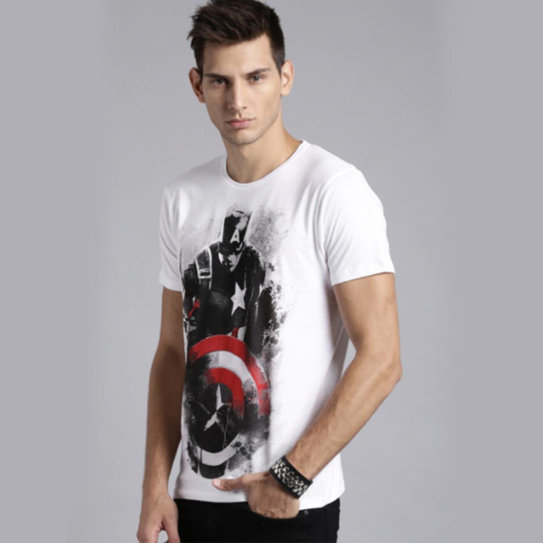 White Civil War Print T-shirt