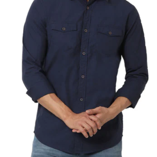 Slim Fit Shirt with Flap Pockets