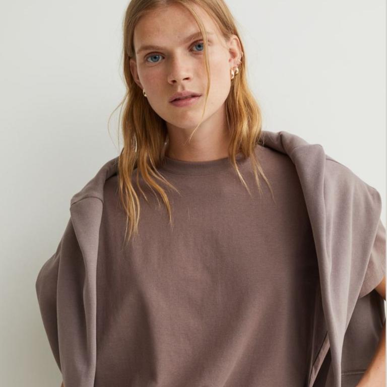 Cotton T-shirt - Brown - Ladies | H&M IN