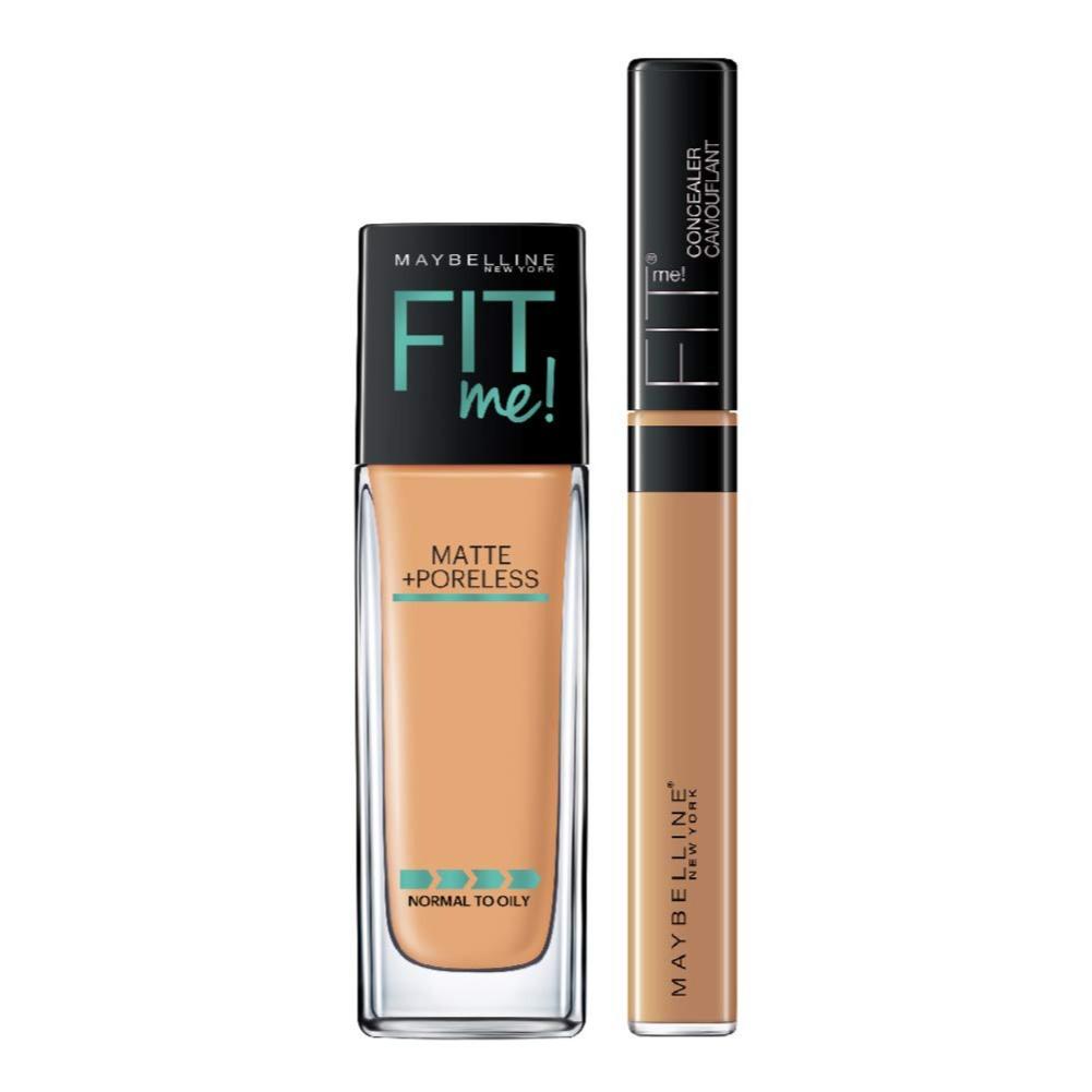 Maybelline New York Fit Me Foundation - 310 + Fit Me Concealer Honey, 36.8g