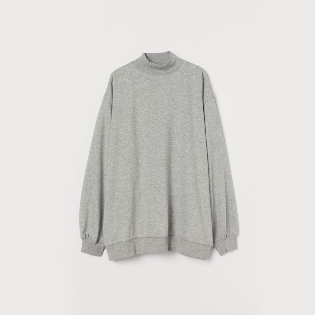 Oversized sweatshirt - Light grey marl - Ladies | H&M IN