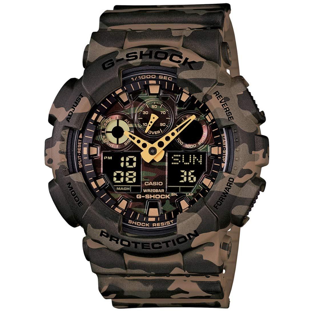 Buy Casio G-Shock Analog-Digital Green Dial Men's Watch - GA-100CM-5ADR (G580) at Amazon.in