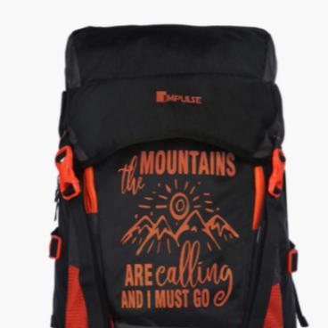 Typographic Print Travel Backpack