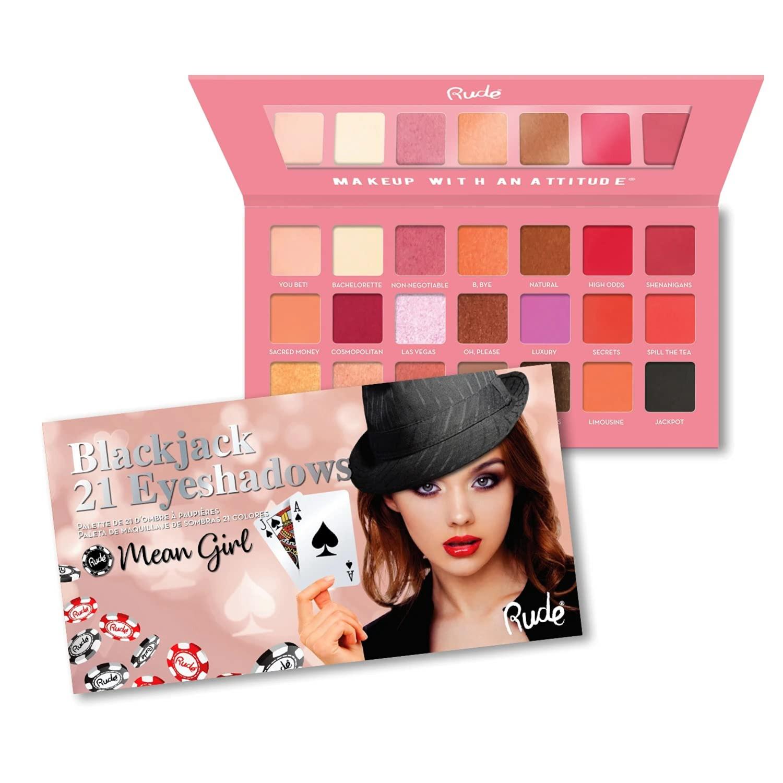 Rude Cosmetics Blackjack 21 Eyeshadows - Mean Girl, Multicolor, 21 g