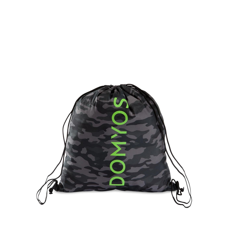 Domyos By Decathlon Black & Grey Camouflage Foldable Fitness Shoe Bag