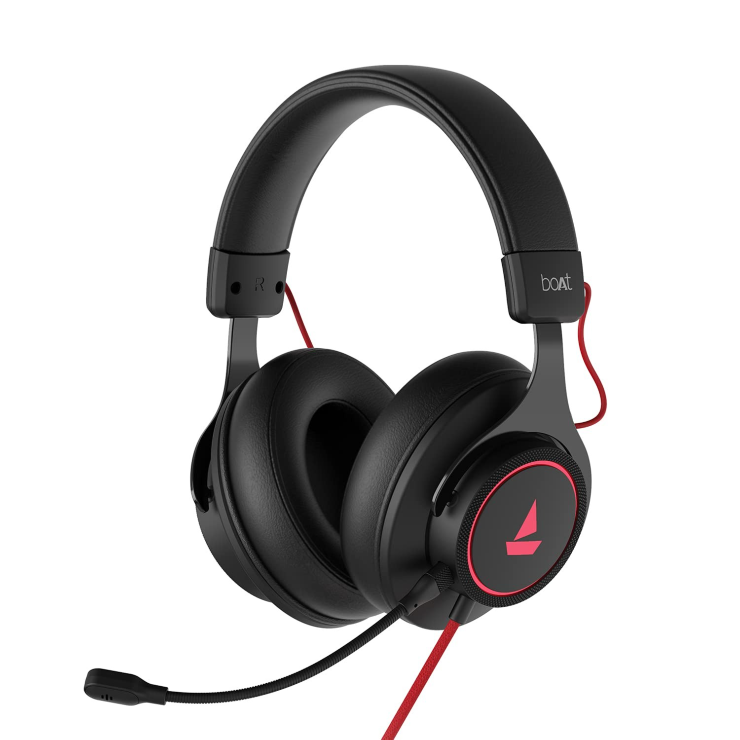Amazon.in: Buy boAt Immortal IM1000D Dual Channel Gaming Headphones with 7.1 Channel Surround Audio, Dolby Atmos, 50mm Drivers & RGB Breathing LEDs(Black Sabre) Online at Low Prices in India | boAt Reviews & Ratings