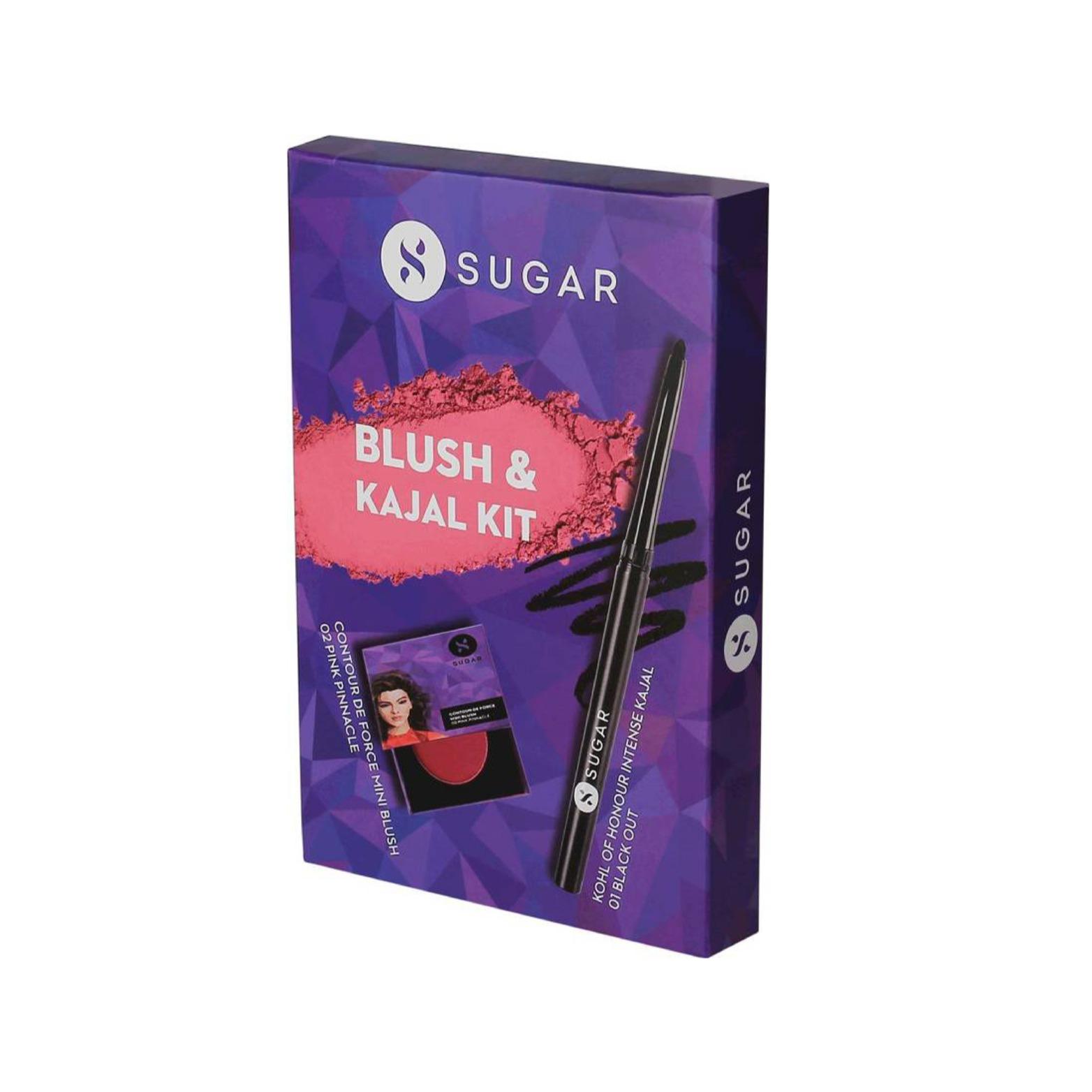 SUGAR Cosmetics Kohl Of Honour Kajal with Contour De Force Mini Blush - 02 Pink - Price in India, Buy SUGAR Cosmetics Kohl Of Honour Kajal with Contour De Force Mini Blush - 02 Pink Online In India, Reviews, Ratings & Features | Flipkart.com