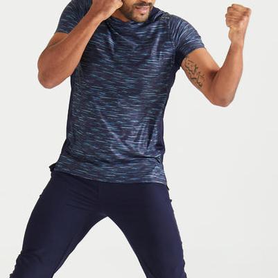 Micro Mesh Back Polyester Slim-Fit Gym T-Shirt