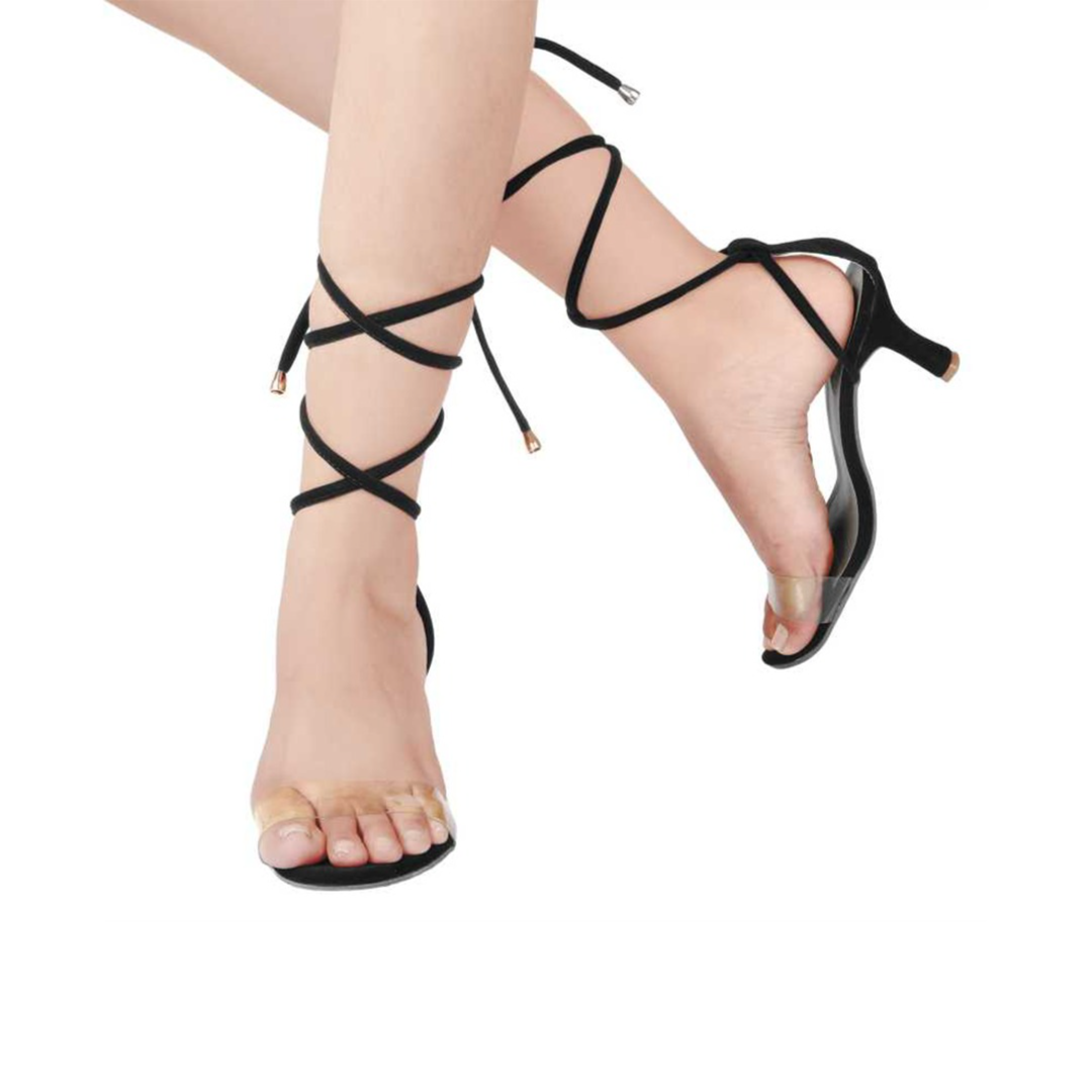 Women Black Heels Sandal