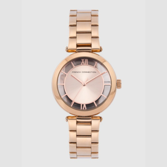 French Connection Women Rose Gold Analogue Watch FCL0001A