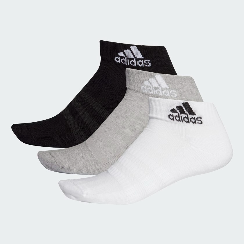 CUSHIONED ANKLE SOCKS 3 PAIRS