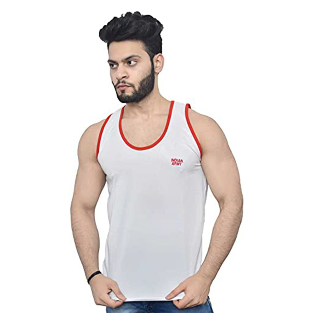 Buy Vest for Men (White, Large, Numeric_40) at Amazon.in