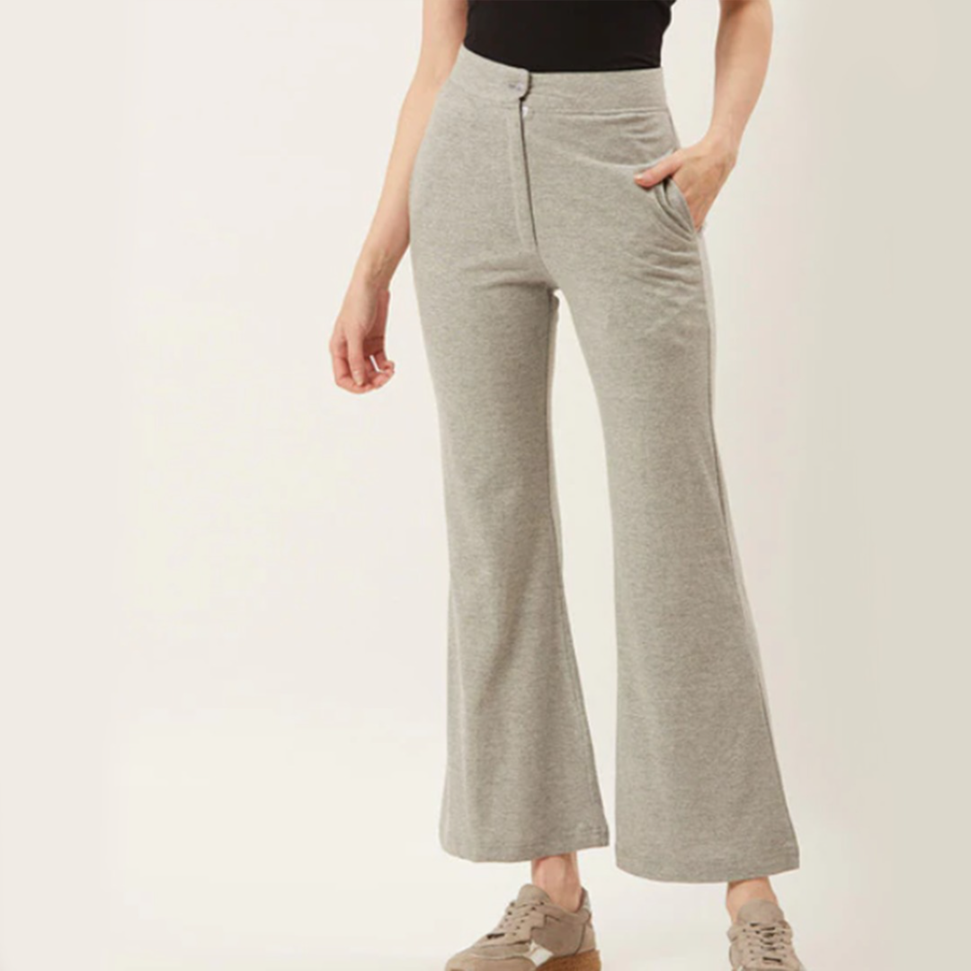 ALSACE LORRAINE PARIS High-Rise Flared Trousers with Insert Pockets