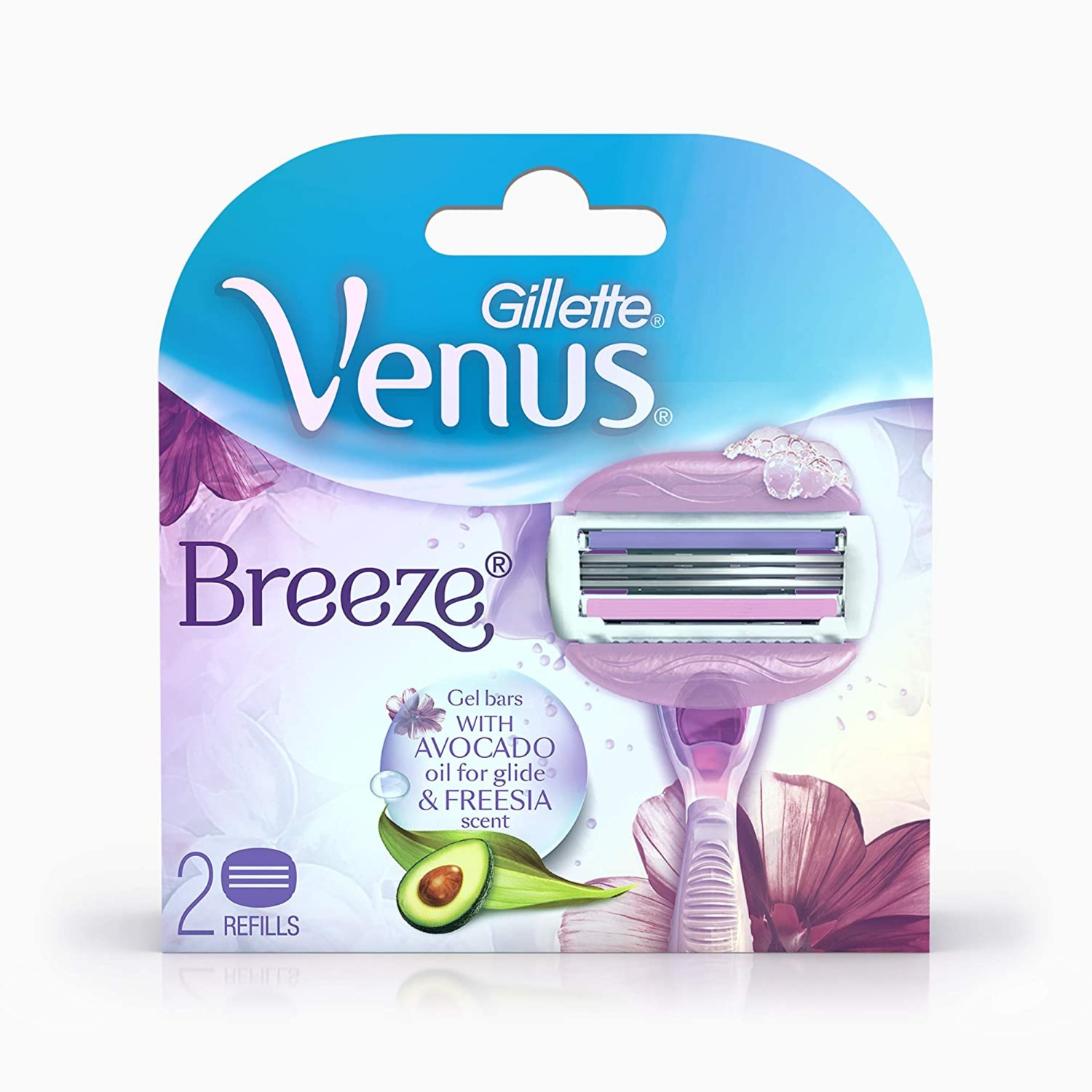 Buy Gillette Venus Breeze Hair Removal Razor Blades/Refills/Cartridges for Women - 2 Pieces (Avocado Oils & Body Butter) Online at Low Prices in India - Amazon.in