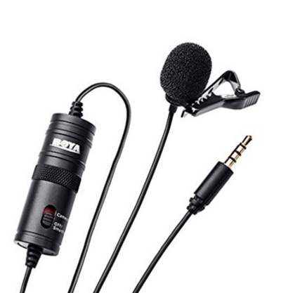 Boya BYM1 Omnidirectional Lavalier Condenser Microphone with 20ft Audio Cable (Black) : Amazon.in: Musical Instruments