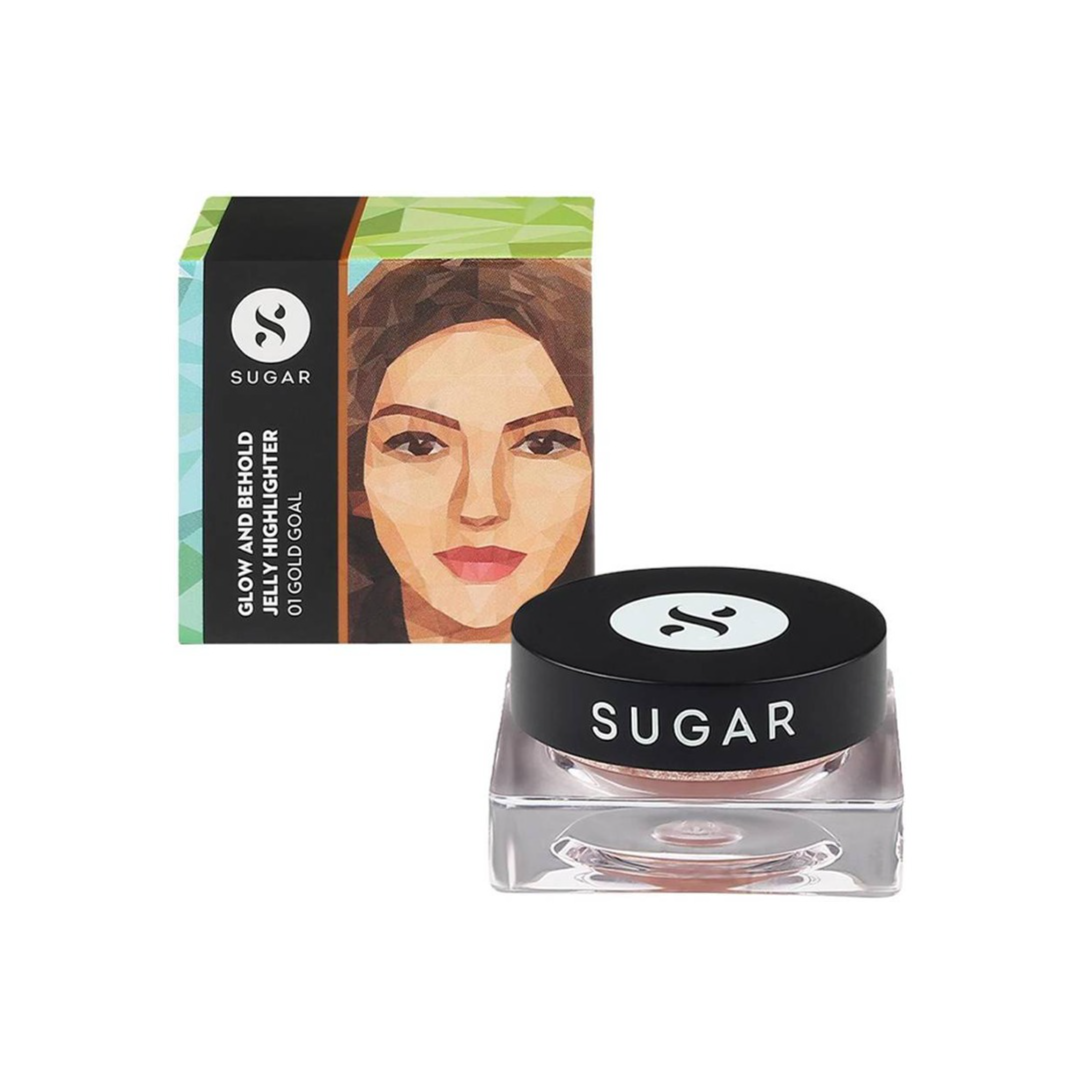 SUGAR Cosmetics Glow And Behold Jelly Highlighter - 01 Gold Goal (Warm Champagne Gold) Highlighter  (01 Gold Goal)
